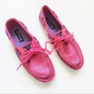 SALE Sperry Top Sider Bahama Pink Sequin Boat Shoe